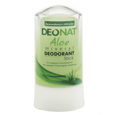 Дезодорант-стик минеральный   С СОКОМ АЛОЭ   зеленый   60g DeoNat