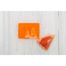 Глицериновое мыло ручной работы  ЦИТРУСОВЫЙ ФРЕШ  масло апельсина, масло грейпфрута, экстракт помело  100g Кафе Красоты